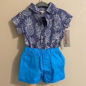 Cat & Jack Boy's Two Piece Summer Outfit 0-3m